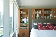 Contemporary, urban bedroom design with plenty of storage. From 1 of 5 projects by Inspired Interiors, discovered on search.porch.com