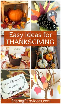 Fun and easy Thanksgiving party ideas!
