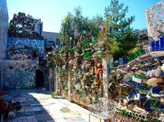 Philadelphia's Magic Garden, check this out. Amazing showcase of Art made from all recycled marterials! Such a site to see in person.