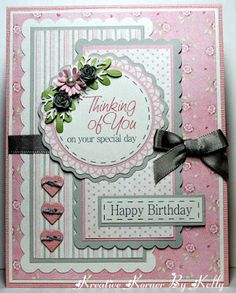 Kreative Korner By Kelly: A Few Birthday Cards and A Special Sympathy Card - Geprägte karten Cool Birthday Cards, Birthday Cards For Women, Handmade Birthday Cards, Greeting Cards Handmade, Diy Birthday, Sister Birthday, Birthday Images, Birthday Quotes, Pretty Cards