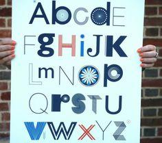 15 Modern Alphabet Prints for the Nursery | Disney Baby