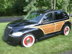 2002 CHRYSLER PT CRUISER LIMITED WOODY, loveit with red wheels