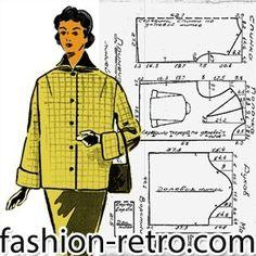Barbie Patterns, Vintage Sewing Patterns, Clothing Patterns, Patron Vintage, Make Your Own Clothes, Retro Pattern, Pattern Drafting, Jacket Pattern, Mode Vintage