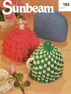 Knitting Pattern Tea Cosies cosy frilly Crinoline doll & traditional vintage