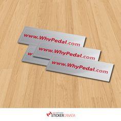 Ypedal 100x30mm Silver Vinyl Stickers. #outdoorstickers #vinylstickers #silvervinylstickers #mirrorstickers #stickerprinting #customstickers