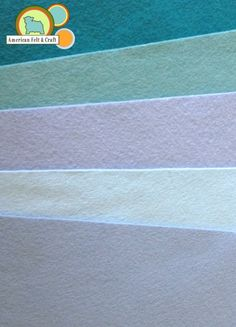 Blue Wool Blend felt sheets in soft blue  shades - American Felt and Craft carries over 100 colors