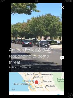 Bomb scare in Antioch,CA.