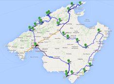 Mallorca Itinerary map