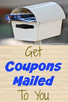 How to Get Coupons Mailed to You! How to Get Coupons Mailed To You! Extreme Couponing, Couponing 101, Start Couponing, Save My Money, Ways To Save Money, Earn Money, Saving Ideas, Money Saving Tips, Money Savers