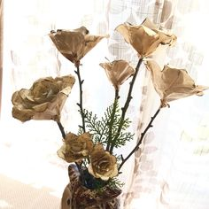 New to Refuge North Studio!   Hand-made paper flowers have arrived! Beautiful accents for natural/rustic decor, add these romantic and everlasting pieces today! For your perfect wedding, special event, or favorite room in the home!    Limited quantities!