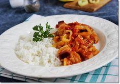 Lecsós szelet   Fotó: gizi-receptjei.blogspot.hu - PROAKTIVdirekt Életmód magazin és hírek - proaktivdirekt.com Just Eat It, Risotto, Grains, Rice, Ethnic Recipes, Food, Meal, Essen, Hoods