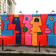 By @thierrynoir  #streetart #streetartist #urbanart #urbanartist #graffiti #graff #streetartparis #parisgraffiti #graffitiwall #wall #wallporn #wallpornart #streetarteverywhere #streetphoto #streetartandgraffiti #urbanwalls #graffart #spray #bombing #collage #pochoir #sticker #instagraff Rue d'Alsace #paris #75010