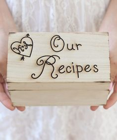 Personalized Initials Our Recipes Box Recipe Gifts Future House
