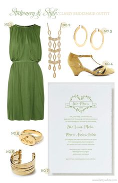 Stationery & Style: Classy Bridesmaid Outfit