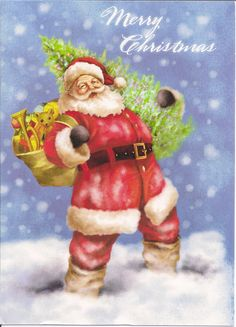 Santa Claus Merry Chrismas by Mailbox Happiness-Angee at Postcrossing, via Flickr