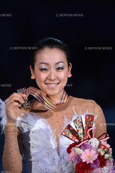 Mao Asada (JPN),.FEBRUARY 10, 2013 - Figure Skating : The ISU Four Continents Championships 2013, Women's Singles Free Skating at Osaka Municpial Central Gymnasium, Osaka, Japan. (Photo by Jun Tsukida/AFLO SPORT) [0003]