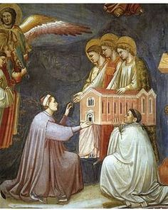 Giotto- Offering the Model Italian Renaissance, Renaissance Art, Art History Memes, Web Gallery Of Art, Giorgio Vasari, Religious Paintings, Historical Art, Italian Artist, Medieval Art