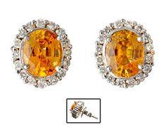 RING  Platina. Fattet med en gul safir 11,8 - 8,8 mm og 17 brillianter.  Antatt kvalitet: Wesselton SI STØRRELSE 58 HØYDE 1,00 CM Rings, Ring, Jewelry Rings