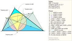 Geometry Problem 39 Triangle, Incenter, Tangent, Cyclic Quadrilateral, Angles