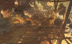 ArtStation - Dark avenger3 artwork (Goblin cave) :D (2016), Jang jae ok