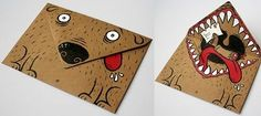 What an artistic, creative, funny way to decorate an envelope for a special letter!