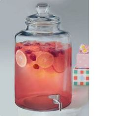 Beverage Jar Dispenser Large 3 Gallon or Fun Drinks, Beverages, Glass Beverage Dispenser, Sun Tea, Princess Theme Party, Dessert Buffet, Getting Drunk, Apothecary Jars, Non Alcoholic