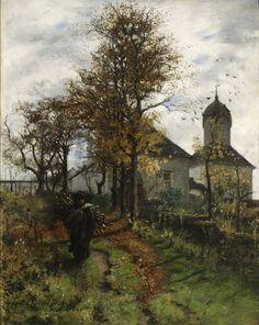 """Abandoned Presbytery"" (1888) by Adam Chmielowski (Polish,1845–1916), oil on canvas, 71.5 x 56.8 cm, National Museum, Warsaw."