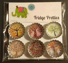 Hey, I found this really awesome Etsy listing at https://www.etsy.com/listing/481198632/magnet-set-whimsical-trees-6-pieces