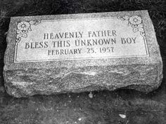 America's Unkown Child,  or The Boy in the Box.  On February 25, 1957, the body of a young boy approximately 4 to 5 years old, was found in the Fox Chase section of Philadelphia.  Unsolved for 50 years, the case is still open.