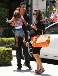 Pregnant Kourtney Kardashian Movie Date with Mason and Scott Disick Kim and Kanye West