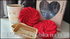 Háčkovaná hubka na riad/Crocheted Dish Scrubbies (english subtitles) Crochet, Dishes, Mugs, Tableware, English, Dinnerware, Tablewares, Tumblers, Tablewares