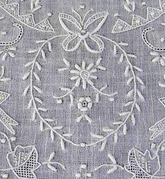 Amazing Hand Embroidery Vintage Antique Bridal Handkerchief Fine Estate Find | Vintageblessings