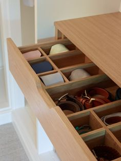 Drawer organisers, part of the bedroom collection at John Lewis of Hungerford. http://www.john-lewis.co.uk/dressing-rooms