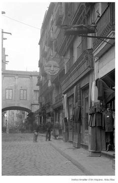 Carrer Sta. Maria  Barri Ribera  Barcelona anys 1920 Catalonia