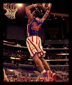 Want to fly like to the hoop like Bones?  Get Bones #24 Harlem Globetrotters jersey here.