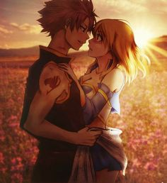 "NaLu this pic is so epic... lucy is like ""n-natsu you?"" <3 <3"