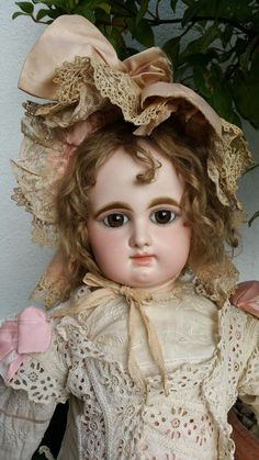 Beautiful RARE Large French Bisque BEBE by Rabery Delphieu R 4D 29 Inches | eBay