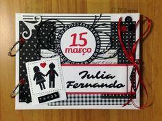 Álbum de fotos romântico em scrapbook (visão geral da decoração) #tkscrapbook
