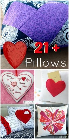 Valentine heart pillow tutorials | #valentines #heart #pillowtutorial Sew up a  few pillows for the Holidays....it's a simple way to decorate.