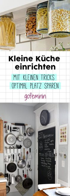 3 tricks for more space: So awesome you can make a small kitchen .- 3 tricks for more space: So awesome you can set up a small kitchen - Diy Kitchen, Kitchen Storage, Storage Spaces, Kitchen Decor, Awesome Kitchen, Kitchen Small, Kitchen Ideas, Kitchen Designs, Bathroom Storage