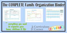 The COMPLETE Family Organization Binder from The Curriculum Corner - really the most complete household binder I've seen yet
