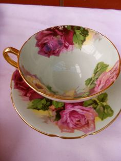 Stanley cup & saucer ENGLAND royal multi ROSES fantastic COLLECTABLE set