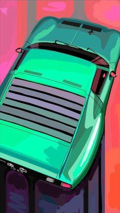 Supercars, Car Prints, Bike Illustration, Lamborghini Miura, Automotive Design, Auto Design, Car Posters, Car Drawings, Car Sketch