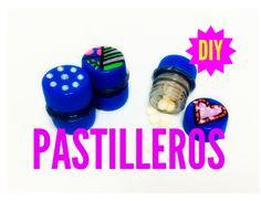 Manualidad facil /  Pastilleros de material reciclado