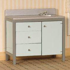 Modern Sink Unit, Mint Green