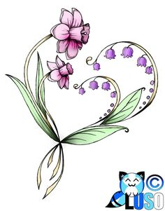 lily of the valley tattoo - Samantha's flower but Lilly's is a chrysanthemum flower...... want a tattoo with those 2 flowers for my daughters, shoulder cap tattoo!!!!!