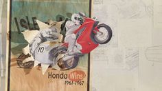 PES's new film for Honda: Pieced together from dozens of animators and illustrators, thousands of bits of original art, and four months of work, this film shows Honda's history in two minutes.