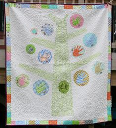 Family Tree Quilt.  Can't stand the colors...but a great gift idea!