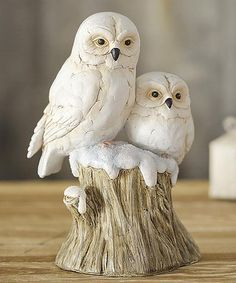 Use our Snowy Owls On Stump Sculpture to bring the beautiful winter landscape indoors. Harry Potter, Yellow Eyes, Snowy Owl, Owl Art, Winter Landscape, Hearth, Wood Carving, Cute Animals, Sculpture