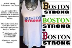Boston Strong Shirts - 100% proc. Donated - The Happy Wardrobe